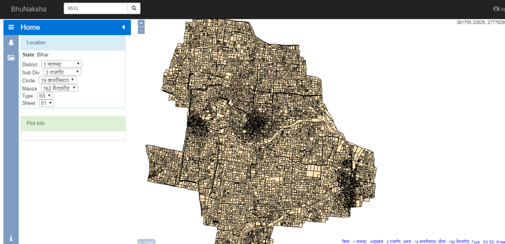 बिहार भू नक्शा